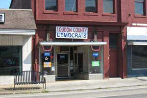 Headquarters of Loudon County Democratic Party; used with permission of Dixie Damm, party chair